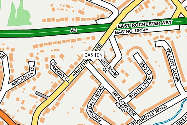 DA5 1EN map - OS OpenMap – Local (Ordnance Survey)