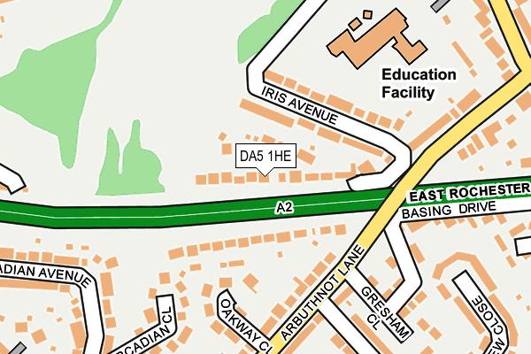 DA5 1HE map - OS OpenMap – Local (Ordnance Survey)