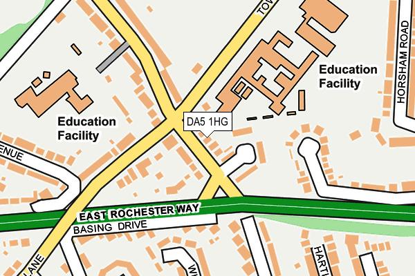 DA5 1HG map - OS OpenMap – Local (Ordnance Survey)