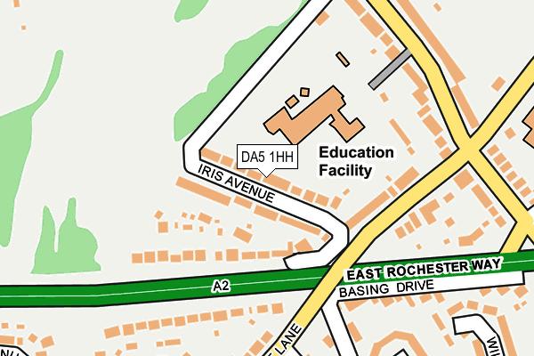 DA5 1HH map - OS OpenMap – Local (Ordnance Survey)
