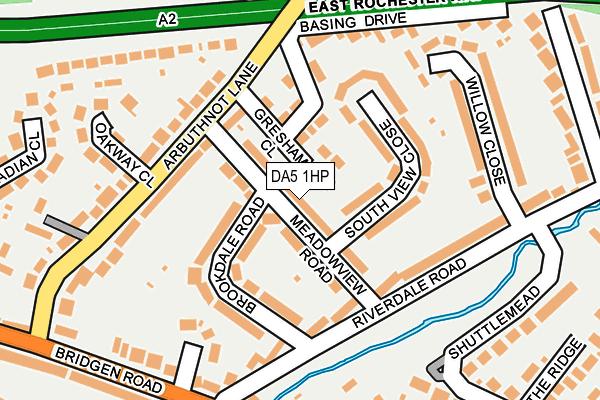 DA5 1HP map - OS OpenMap – Local (Ordnance Survey)