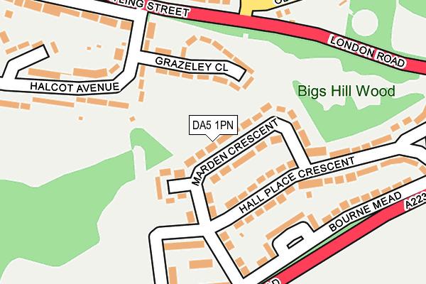 DA5 1PN map - OS OpenMap – Local (Ordnance Survey)