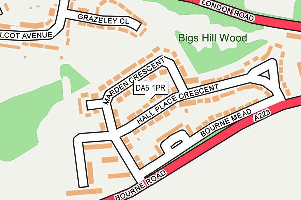 DA5 1PR map - OS OpenMap – Local (Ordnance Survey)