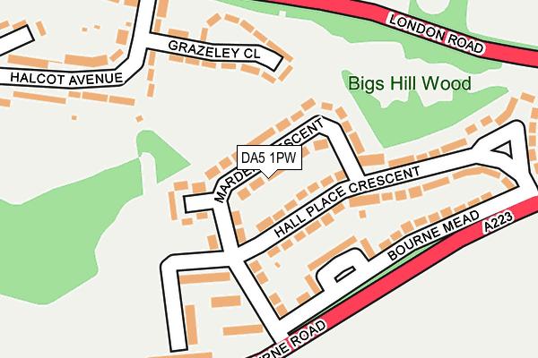 DA5 1PW map - OS OpenMap – Local (Ordnance Survey)