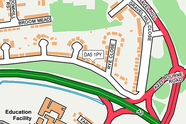 DA5 1PY map - OS OpenMap – Local (Ordnance Survey)