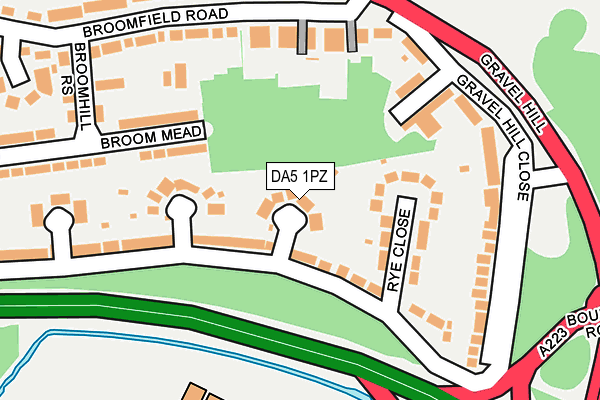 DA5 1PZ map - OS OpenMap – Local (Ordnance Survey)