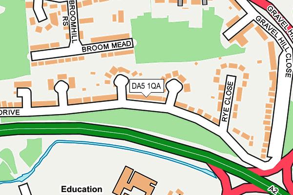 DA5 1QA map - OS OpenMap – Local (Ordnance Survey)