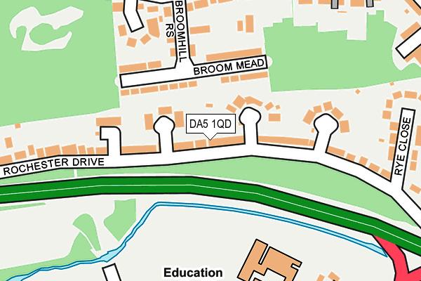 DA5 1QD map - OS OpenMap – Local (Ordnance Survey)