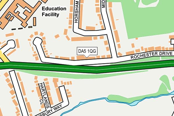 DA5 1QG map - OS OpenMap – Local (Ordnance Survey)
