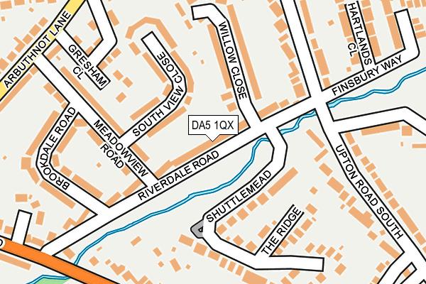 DA5 1QX map - OS OpenMap – Local (Ordnance Survey)