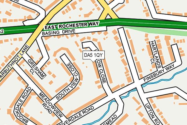DA5 1QY map - OS OpenMap – Local (Ordnance Survey)