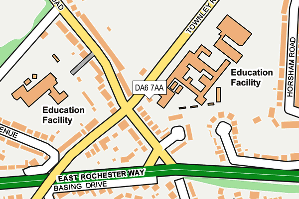DA6 7AA map - OS OpenMap – Local (Ordnance Survey)