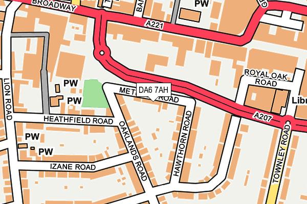 DA6 7AH map - OS OpenMap – Local (Ordnance Survey)