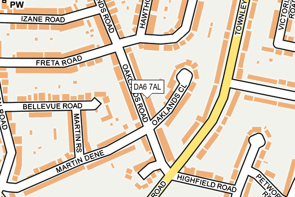 Map of OAKLANDS CONSULTING LIMITED at local scale