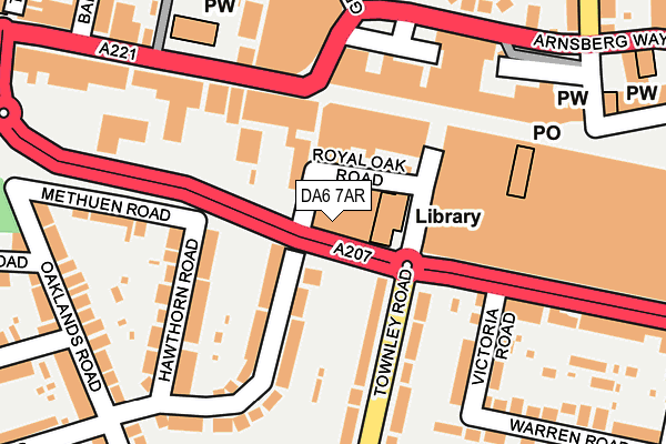DA6 7AR map - OS OpenMap – Local (Ordnance Survey)