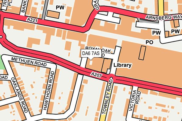 DA6 7AS map - OS OpenMap – Local (Ordnance Survey)