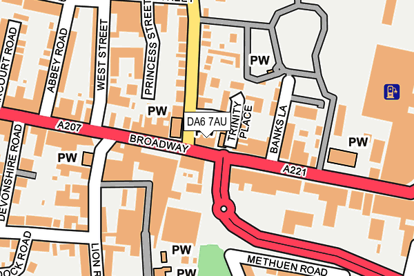 DA6 7AU map - OS OpenMap – Local (Ordnance Survey)