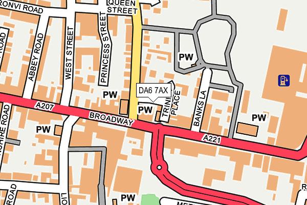 DA6 7AX map - OS OpenMap – Local (Ordnance Survey)