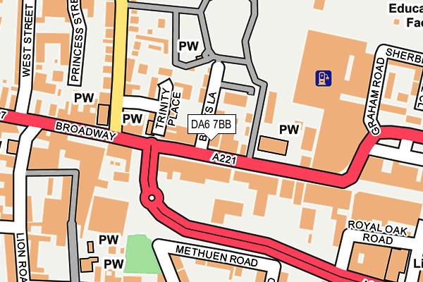 DA6 7BB map - OS OpenMap – Local (Ordnance Survey)