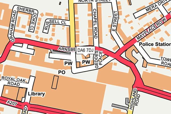DA6 7DJ map - OS OpenMap – Local (Ordnance Survey)