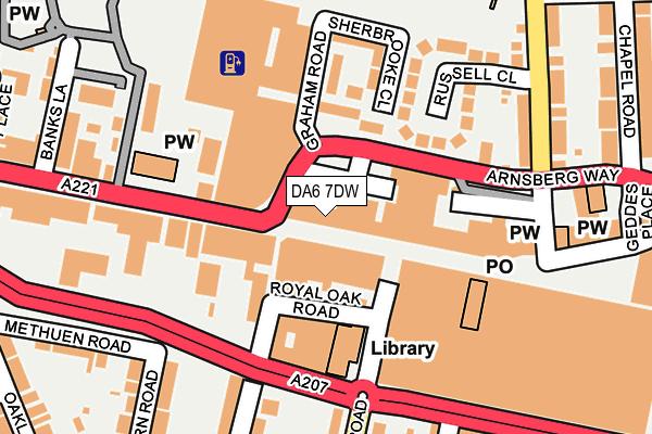 DA6 7DW map - OS OpenMap – Local (Ordnance Survey)