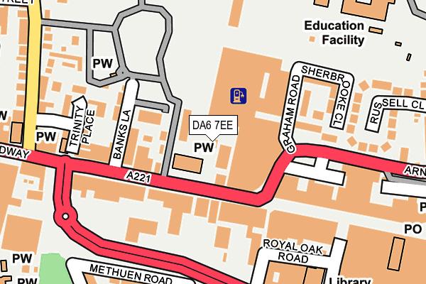 DA6 7EE map - OS OpenMap – Local (Ordnance Survey)