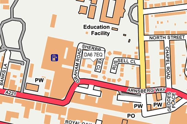 DA6 7EQ map - OS OpenMap – Local (Ordnance Survey)