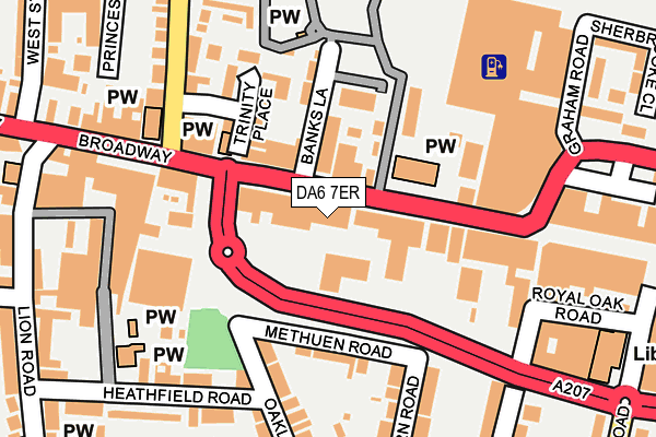 DA6 7ER map - OS OpenMap – Local (Ordnance Survey)