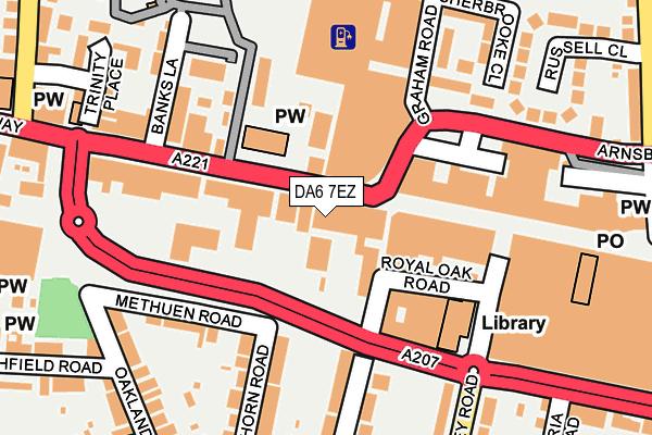 DA6 7EZ map - OS OpenMap – Local (Ordnance Survey)