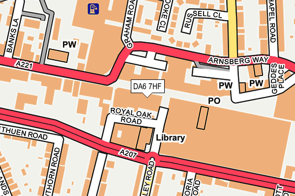 DA6 7HF map - OS OpenMap – Local (Ordnance Survey)