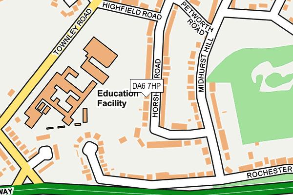 DA6 7HP map - OS OpenMap – Local (Ordnance Survey)