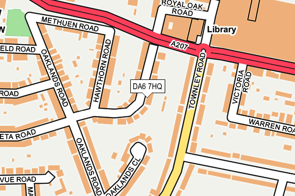 Map of NGW LTD at local scale