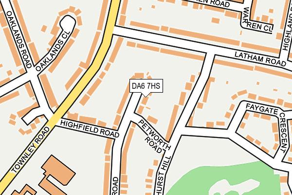 DA6 7HS map - OS OpenMap – Local (Ordnance Survey)