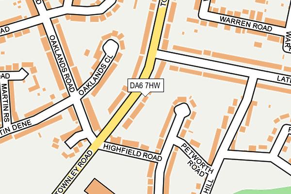 DA6 7HW map - OS OpenMap – Local (Ordnance Survey)