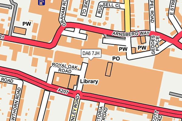 DA6 7JH map - OS OpenMap – Local (Ordnance Survey)