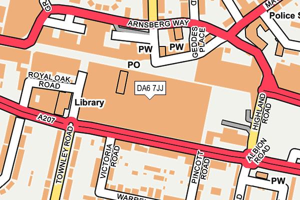 DA6 7JJ map - OS OpenMap – Local (Ordnance Survey)