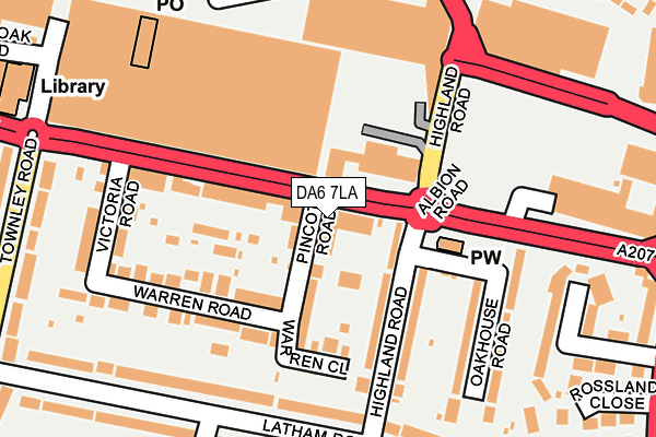 DA6 7LA map - OS OpenMap – Local (Ordnance Survey)