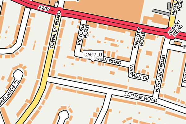 DA6 7LU map - OS OpenMap – Local (Ordnance Survey)