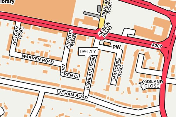 DA6 7LY map - OS OpenMap – Local (Ordnance Survey)
