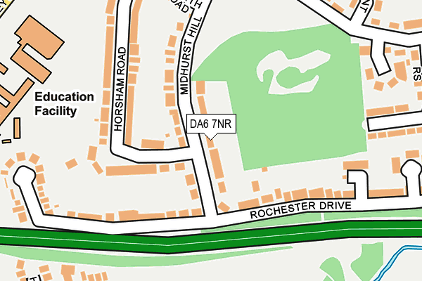 Map of AV ROOFING SERVICES LTD at local scale