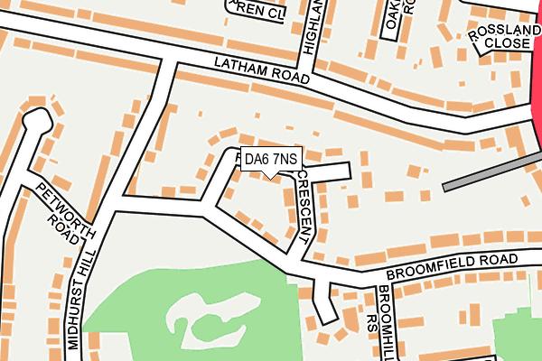 DA6 7NS map - OS OpenMap – Local (Ordnance Survey)
