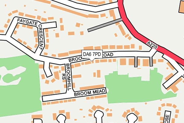 DA6 7PD map - OS OpenMap – Local (Ordnance Survey)