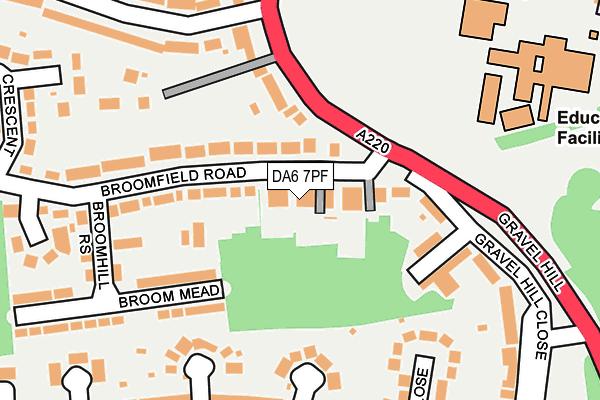 DA6 7PF map - OS OpenMap – Local (Ordnance Survey)