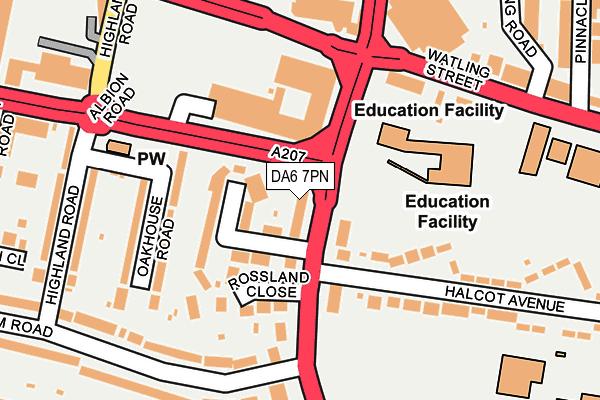 DA6 7PN map - OS OpenMap – Local (Ordnance Survey)