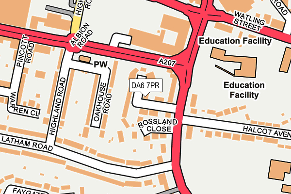 DA6 7PR map - OS OpenMap – Local (Ordnance Survey)