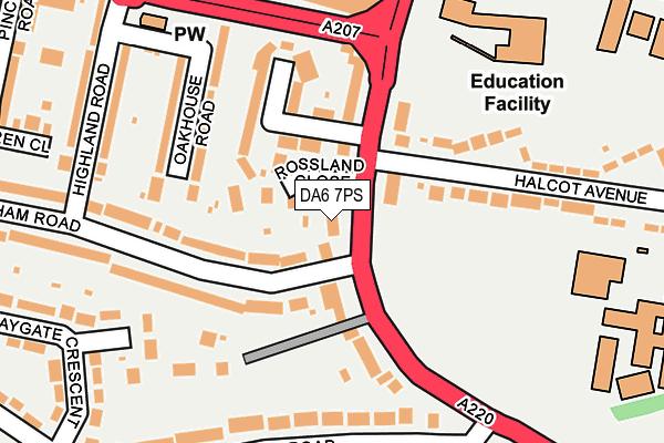 DA6 7PS map - OS OpenMap – Local (Ordnance Survey)