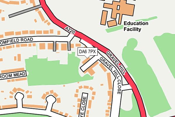 DA6 7PX map - OS OpenMap – Local (Ordnance Survey)