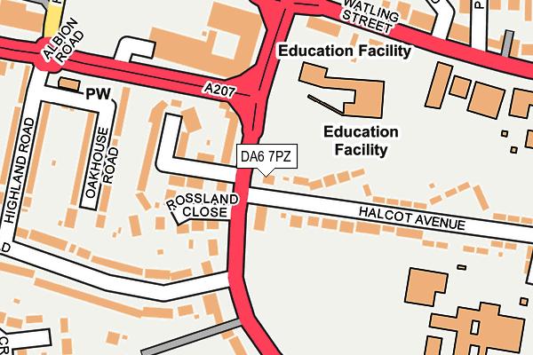 DA6 7PZ map - OS OpenMap – Local (Ordnance Survey)