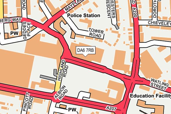DA6 7RB map - OS OpenMap – Local (Ordnance Survey)