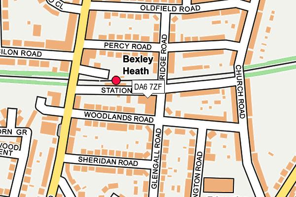 DA6 7ZF map - OS OpenMap – Local (Ordnance Survey)